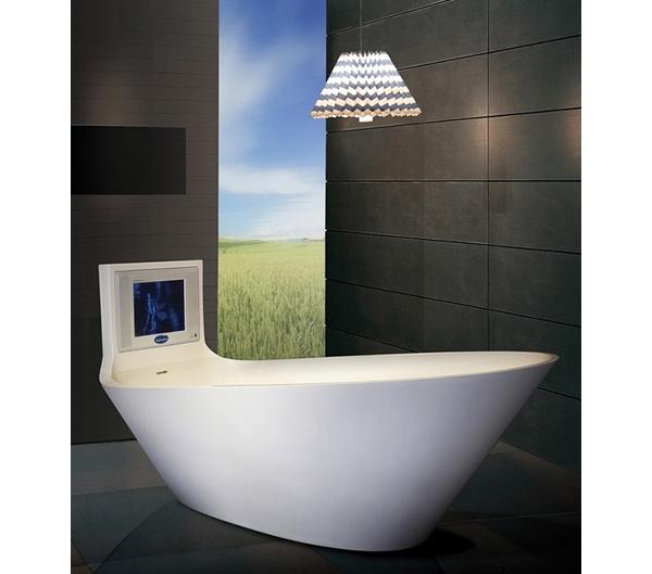 Banheira com TV  Blog  Móveis Planejados  Artezanal  Móveis Clássicos e C -> Banheiro Com Banheira E Televisao