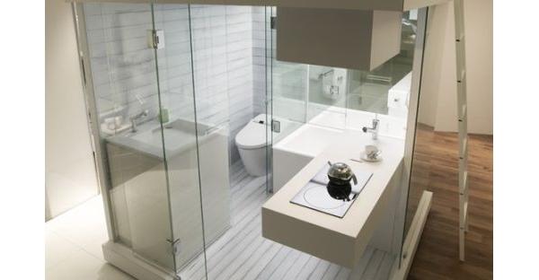 Banheiro compacto para apartamentos pequenos blog for Como disenar un bano muy pequeno