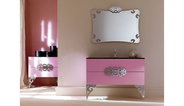 Móveis de Banheiro estilo Neo Barroco  Blog  Móveis Planejados  Artezanal  -> Armario Banheiro Lilas