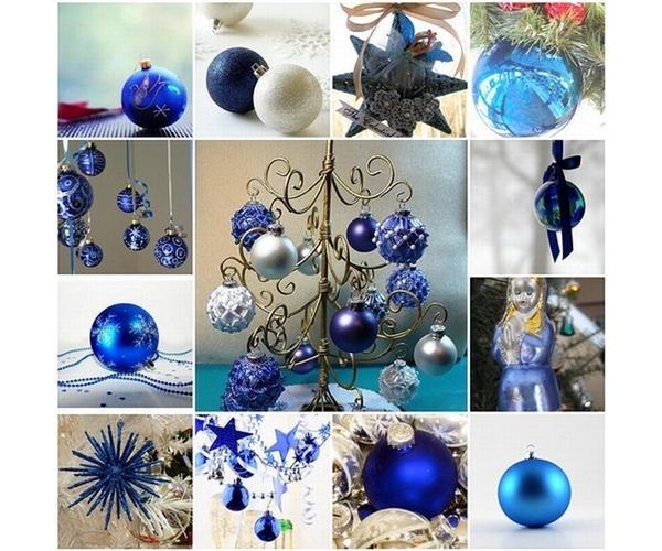 decoracao de arvore de natal azul e dourado : decoracao de arvore de natal azul e dourado:Decoração de Natal com Verde, Azul, Dourado e Rosa