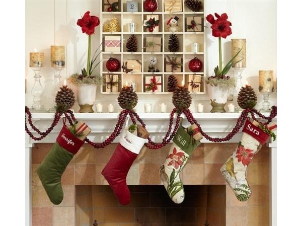 decoracao de lavabo para o natal: lindas opções para a decoração das lareiras para natal