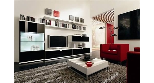 living modernos com cores fortes da hulsta blog m veis planejados artezanal m veis. Black Bedroom Furniture Sets. Home Design Ideas