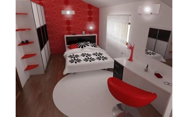Inspirador Quarto em Vermelho, Branco e Preto Blog  ~ Quarto Preto Cinza E Vermelho